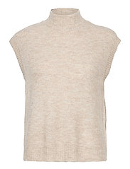 VMLEFILE SL HIGHNECK VEST BOO - BIRCH