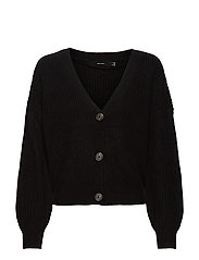 VMLEA LS V-NECK CARDIGAN - BLACK