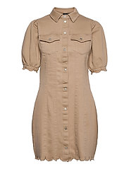 VMAVIIS 2/4 PUFF SHORT DRESS - NOMAD