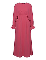 VMALLY WIDE L/S ANKLE DRESS EXP - HOT PINK