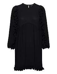 VMZIGGA 7/8 SCALLOP TUNIC SB2 GA - BLACK