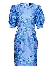 VMSTELLA 2/4 SHORT DRESS SB2 - HYDRANGEA