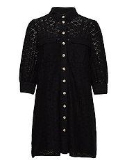 VMHENNY LACE 3/4 SHORT SHIRT DRESS EXP - BLACK
