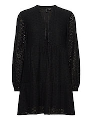 VMHENNY LACE L/S TUNIC EXP - BLACK