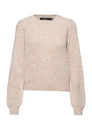 VMLEFILE PUFF LS BLOUSE REP - BIRCH