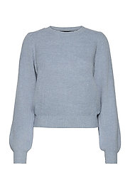 VMLEFILE PUFF LS BLOUSE REP - BLUE FOG