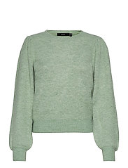 VMLEFILE PUFF LS BLOUSE REP - JADEITE