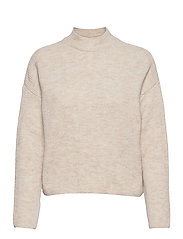 VMOLINA LS HIGHNECK BLOUSE - BIRCH