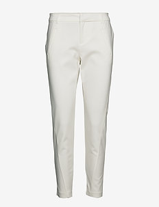 VMVICTORIA MR ANTIFIT ANKLE PANTS COLOR - SNOW WHITE