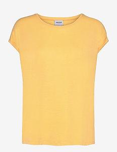 VMAVA PLAIN SS TOP GA - t-shirts - cornsilk