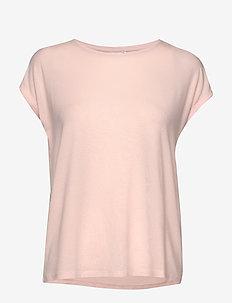 VMAVA PLAIN SS TOP GA NOOS - t-shirty - sepia rose
