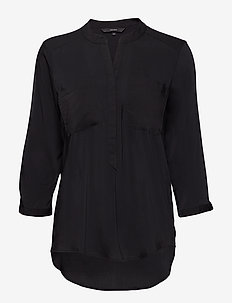 VMERIKA PLAIN 3/4 SHIRT NOOS - long sleeved blouses - black