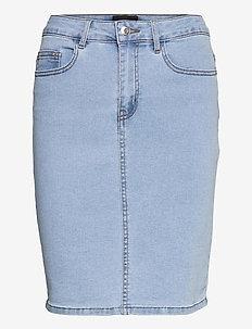 VMHOT NINE HW DNM PENCIL SKIRT GA - jeanskjolar - light blue denim