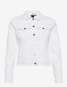 VMHOT SOYA LS DENIM JACKET MIX GA - jeansjackor - bright white