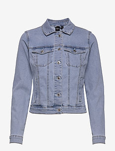 VMHOT SOYA LS DENIM JACKET MIX GA - jeansjackor - light blue denim