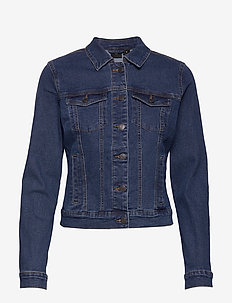 VMHOT SOYA LS DENIM JACKET MIX GA - jeansjackor - medium blue denim