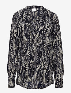 VMCITY L/S BLOUSE GA - BIRCH