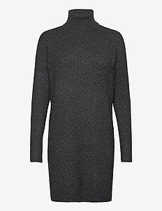 VMBRILLIANT LS ROLLNECK DRESS GA NOOS - sukienki do kolan i midi - black