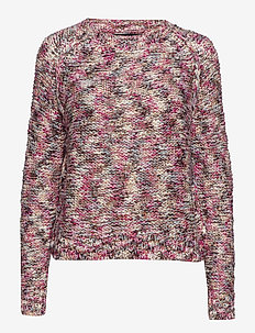 VMFRUTTI LS O-NECK BLOUSE - tröjor - rose violet
