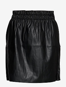 VMRILEY HR RUFFLE SHORT SKIRT - BLACK