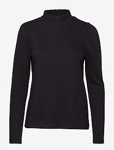 VMFOREST LS PLEAT SWEAT VMA - BLACK