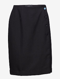 VMVALINKA WRAP ABK  SKIRT  VMC - BLACK