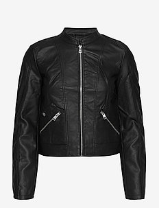 VMKHLOE  FAVO COATED JACKET - skinnjackor - black