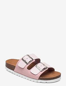 VMCARLA LEATHER SANDAL - platta sandaler - roseate spoonbill
