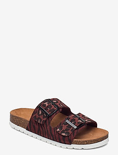 VMALDA LEATHER SANDAL - platta sandaler - sable