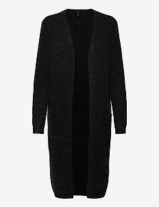 VMDOFFY LS LONG OPEN CARDIGAN GA NOOS - gilets - black