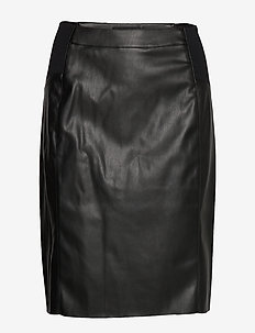 VMBUTTERSIA HW COATED SKIRT NOOS - BLACK