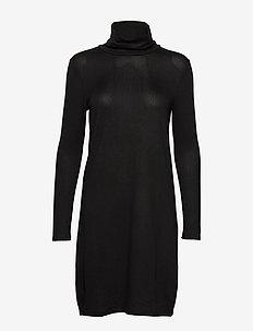VMMALENA LS ROLLNECK SHORT DRESS NOOS - BLACK