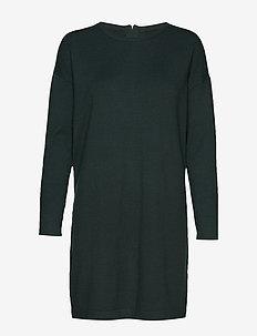 VMHAPPY BASIC LS ZIPPER DRESS COLOR - PONDEROSA PINE