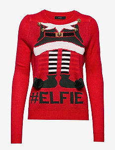 VMELFIE GIRL LS BLOUSE NVL PI - CHINESE RED