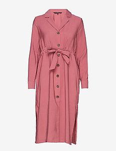 VMCLEO L/S CALF DRESS WVN - HAWTHORN ROSE