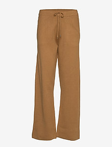 VMLOUNGE NW KNIT TROUSERS - TOBACCO BROWN