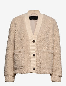 VMANNIKA SHORT TEDDY JACKET - OATMEAL