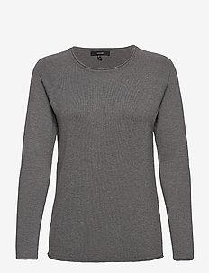 VMNELLIE GLORY LS LONG BLOUSE - tröjor - medium grey melange