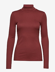 VMIRINA LS ROLL-NECK VMA - MADDER BROWN