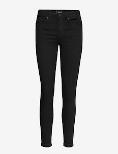 VMTANYA MR S PIPING JEANS VI120 NOOS - skinny farkut - black