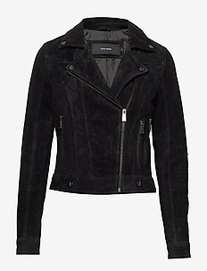 VMROYCESALON SHORT SUEDE JACKET NOOS - BLACK