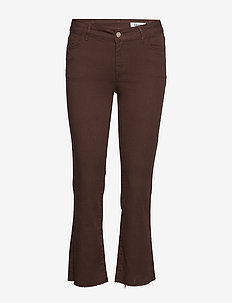 VMSHEILA MR SLIM KICK FLARE JEAN CLR VMA - COFFEE BEAN