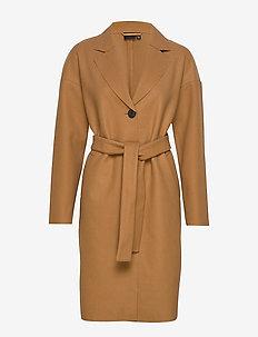 VMONLINE LONG JACKET - wełniane płaszcze - tobacco brown
