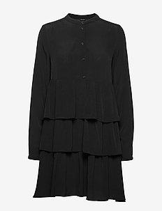 VMIRENE LS SHORT DRESS WVN - BLACK