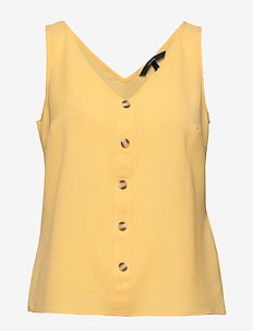 VMSASHA SL BUTTON TOP COLOR - BANANA CREAM
