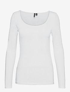 VMMAXI MY LS SOFT UNECK GA - långärmade toppar - bright white