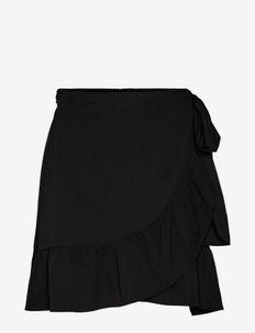 VMCITA BOBBLE WRAP SKIRT - korta kjolar - black