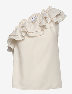 VMLUCINDA ONE SHOULDER TOP VMA KI - sleeveless blouses - birch