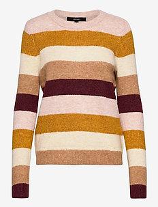 VMPLAZA LS BLOUSE GA BOO - swetry - buckthorn brown