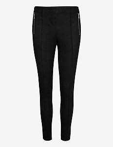 VMCAVA ZIP NW FAUX SUEDE LEGGING JRS BOO - leggings - black